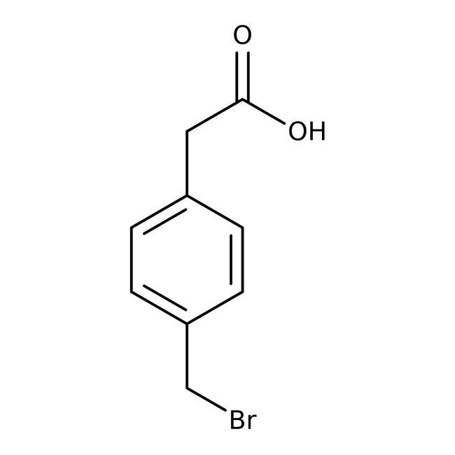 4-(Bromomethyl)phenylacetic acid, 97%, ACROS Organics™ 5g; Glass bottle 4-(Bromomethyl)phenylacetic acid, 97%, ACROS Organics™