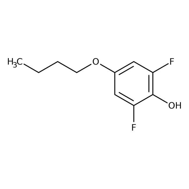 Alfa Aesar™4-n-Butoxy-2,6-difluorophenol, 97% 1g Alfa Aesar™4-n-Butoxy-2,6-difluorophenol, 97%