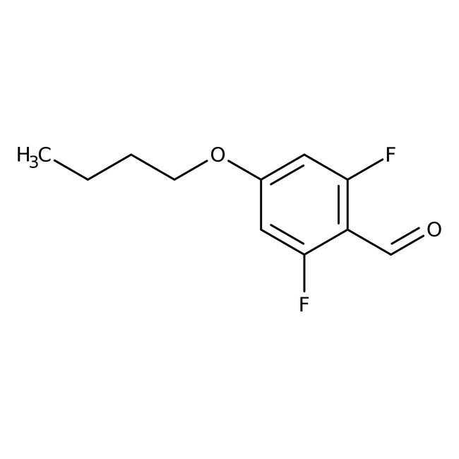 Alfa Aesar™4-n-Butoxy-2,6-Difluorbenzaldehyd, 97% 1g Alfa Aesar™4-n-Butoxy-2,6-Difluorbenzaldehyd, 97%