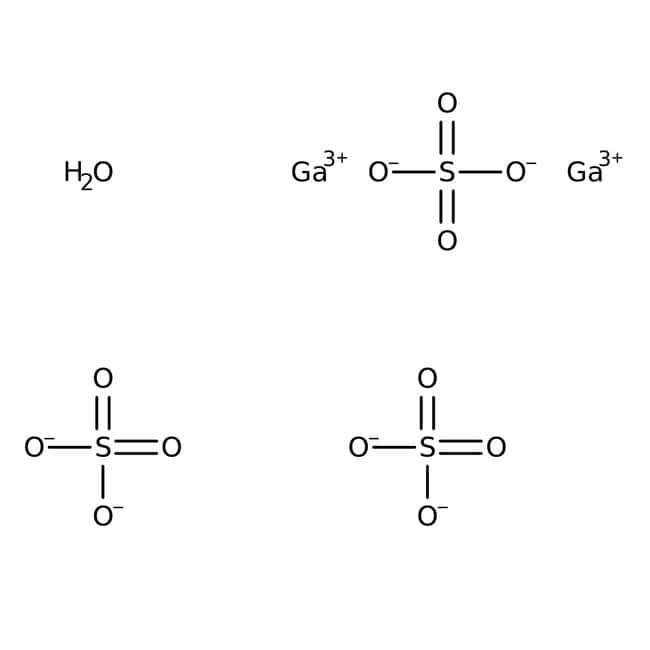 Alfa Aesar™Gallium(III)-sulfathydrat, Puratronic™, 99.999% (Metallbasis) 50g Alfa Aesar™Gallium(III)-sulfathydrat, Puratronic™, 99.999% (Metallbasis)