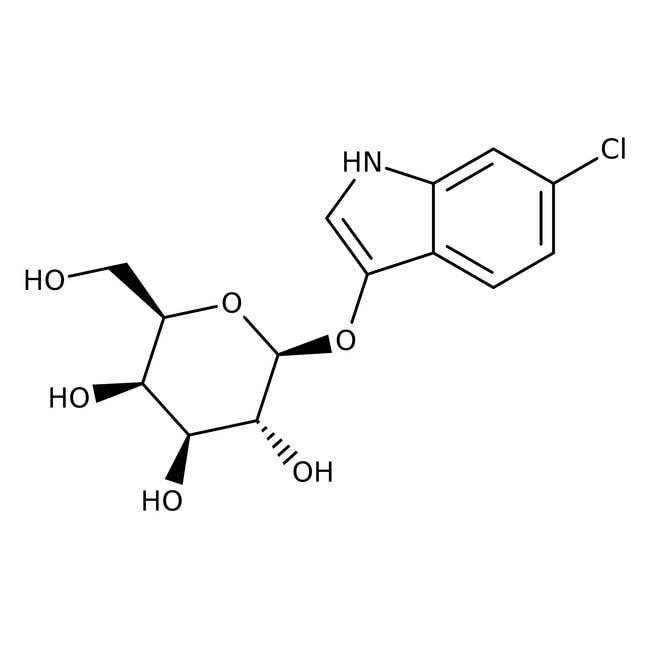Alfa Aesar™6-Chloro-3-indolyl-beta-D-galactopyranoside, 98% 0.1g Alfa Aesar™6-Chloro-3-indolyl-beta-D-galactopyranoside, 98%