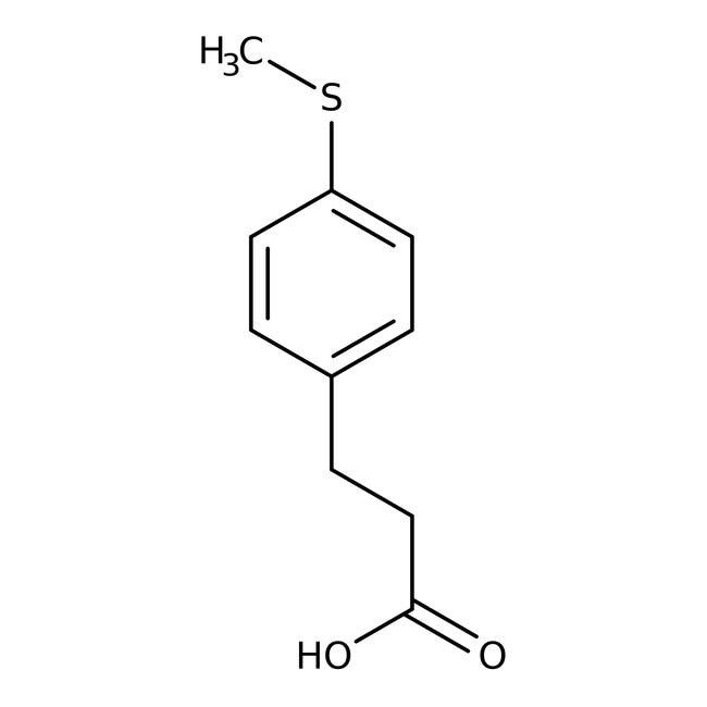 3-[4-(Methylthio)phenyl]propionic acid, 96%, Alfa Aesar™ 10g 3-[4-(Methylthio)phenyl]propionic acid, 96%, Alfa Aesar™