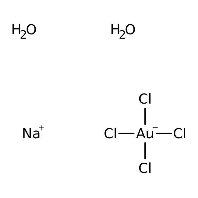 Sodium tetrachloroaurate(III) dihydrate, 99.99% (metals basis), Alfa Aesar , Premion