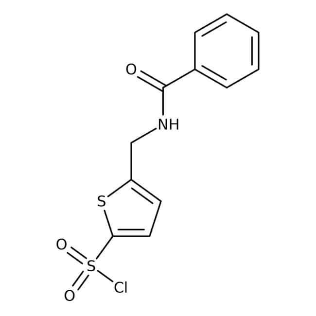 5-[(Benzoylamino)methyl]thiophene-2-sulfonyl chloride, 97%, Maybridge