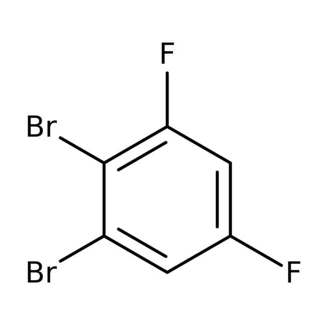 Alfa Aesar™1,2-Dibromo-3,5-difluorobenzène 98% 5g Alfa Aesar™1,2-Dibromo-3,5-difluorobenzène 98%