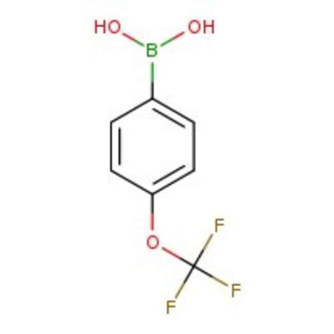 Alfa Aesar™Ácido 4-(trifluorometoxi)bencenoborónico, 98% 25g Alfa Aesar™Ácido 4-(trifluorometoxi)bencenoborónico, 98%