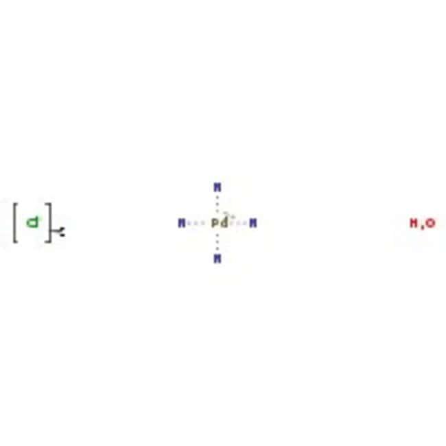 Alfa Aesar™Tetraamminepalladium(II) chloride monohydrate, 99.9% (metals basis), Pd 39% min