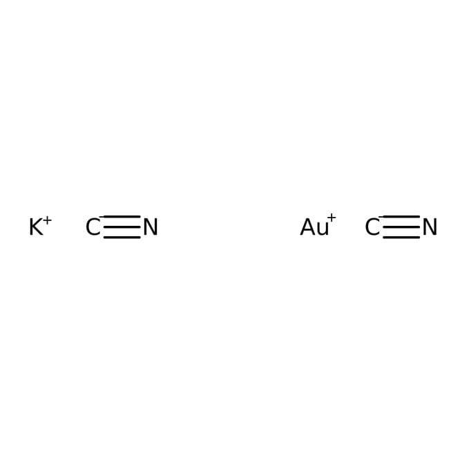 Alfa Aesar™Gold(I) potassium cyanide, Premion™, 99.96% (metals basis), Au 67.6% min