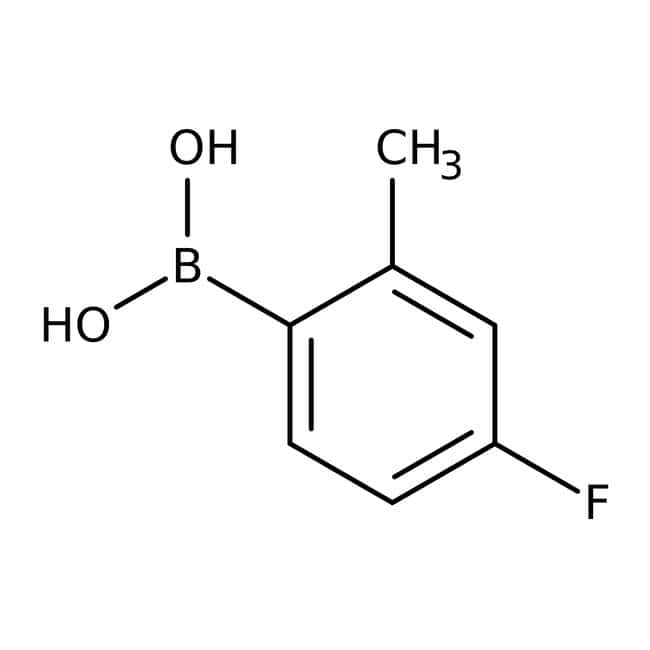4-Fluoro-2-methylphenylboronic acid, 97%, ACROS Organics™ 25g; Glass bottle prodotti trovati