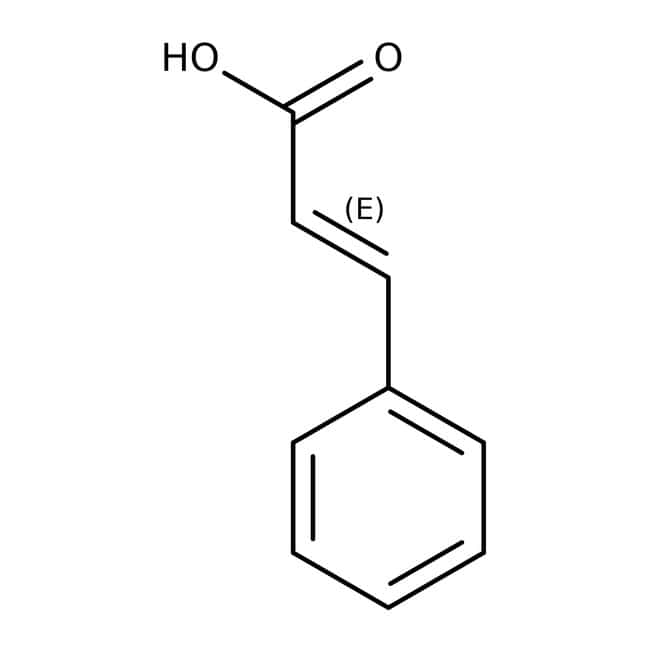 trans-Cinnamic Acid, 98+%, ACROS Organics™ 100g; Plastic bottle trans-Cinnamic Acid, 98+%, ACROS Organics™