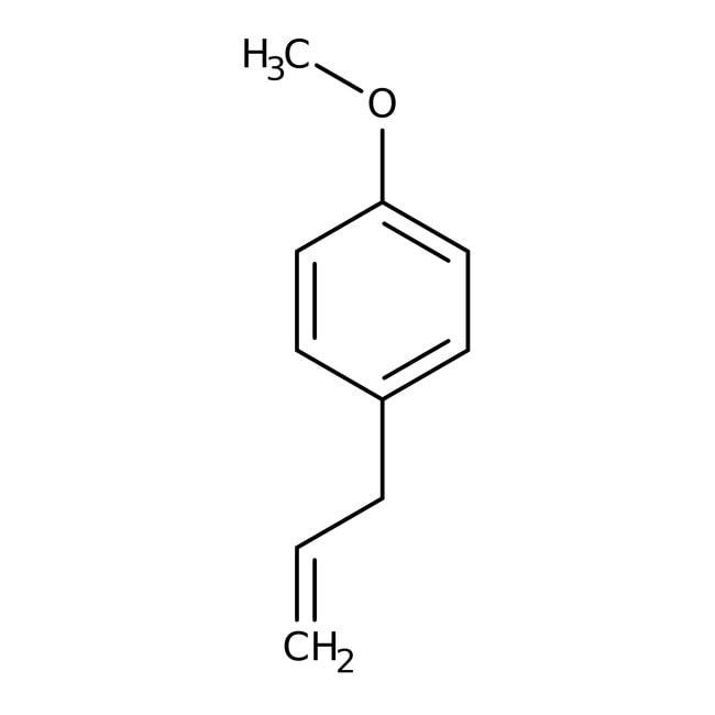4-Allylanisole, 98%, ACROS Organics™ 100g; Glass bottle 4-Allylanisole, 98%, ACROS Organics™