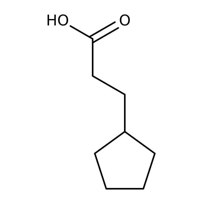 3-Cyclopentylpropionic acid, 98%, ACROS Organics™ 100g; Glass bottle 3-Cyclopentylpropionic acid, 98%, ACROS Organics™