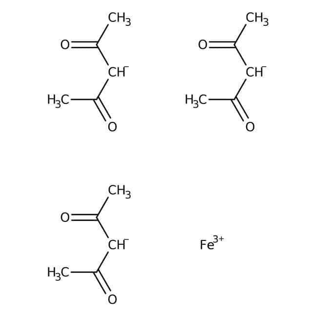Iron(III) acetylacetonate, 99+%, ACROS Organics™ 100g; Glass bottle Iron(III) acetylacetonate, 99+%, ACROS Organics™