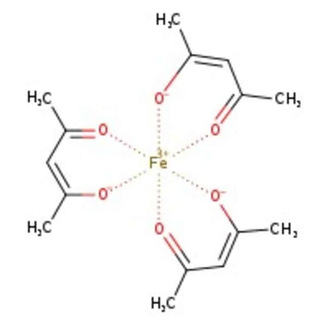 Eisen(III)-Acetylacetonat, +99%, Acros Organics™ 1kg; Glasflasche Eisen(III)-Acetylacetonat, +99%, Acros Organics™