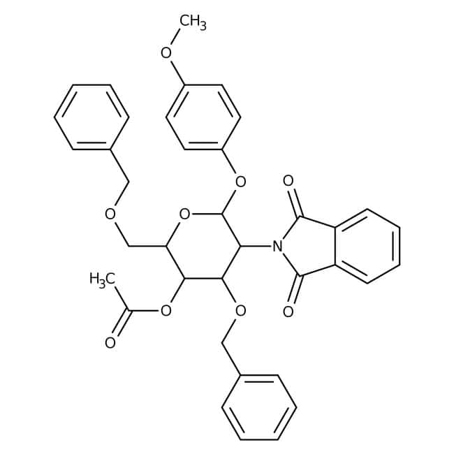 4-Methoxyphenyl 4-O-Acetyl-3,6-di-O-benzyl-2-deoxy-2-phthalimido-beta-D-glucopyranoside 98.0+%, TCI America™