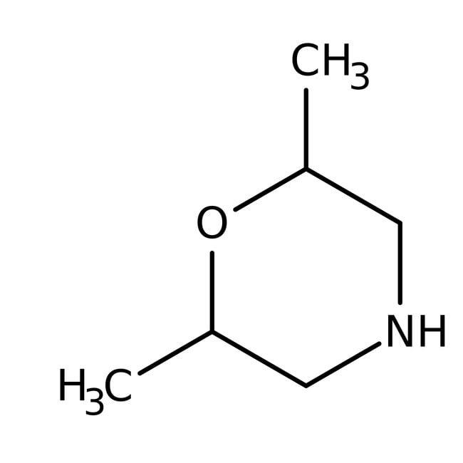2,6-Dimethylmorpholine, 97%, mixture of isomers, ACROS Organics™ 25g, Glass bottle 2,6-Dimethylmorpholine, 97%, mixture of isomers, ACROS Organics™