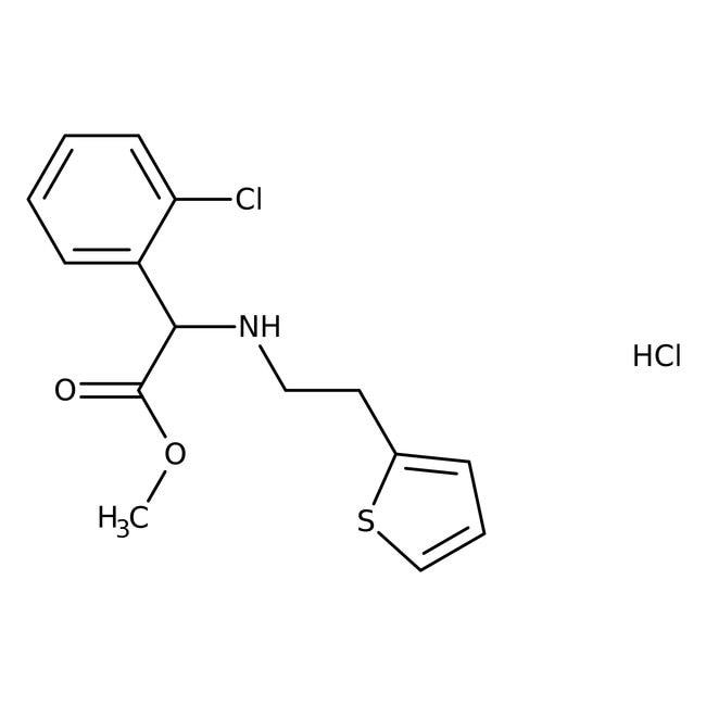 2-Chloro-N-[2-(2-thienyl)ethyl]-D-phenylglycine methyl ester hydrochloride, 98%, Alfa Aesar™ 250mg 2-Chloro-N-[2-(2-thienyl)ethyl]-D-phenylglycine methyl ester hydrochloride, 98%, Alfa Aesar™