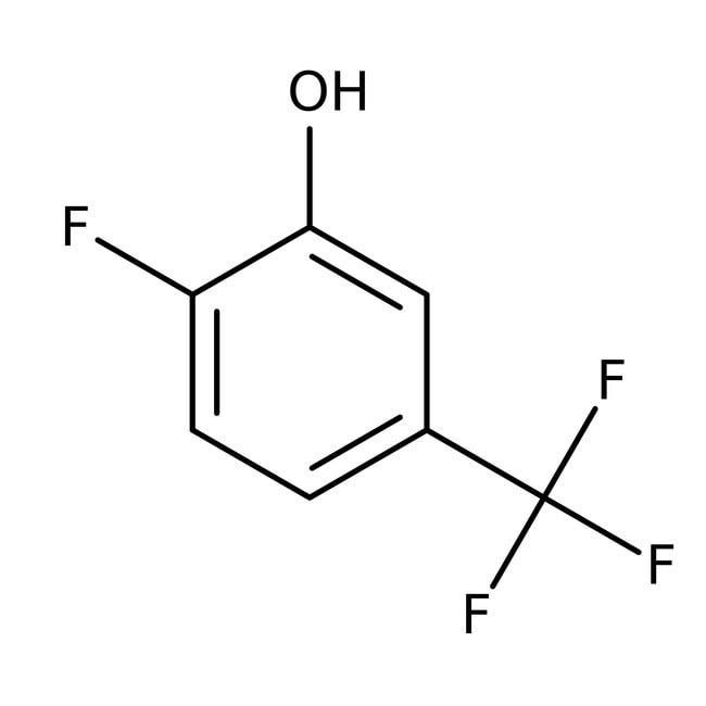2-Fluoro-5-(trifluoromethyl)phenol, 98%, ACROS Organics™ 1g; Glass bottle 2-Fluoro-5-(trifluoromethyl)phenol, 98%, ACROS Organics™