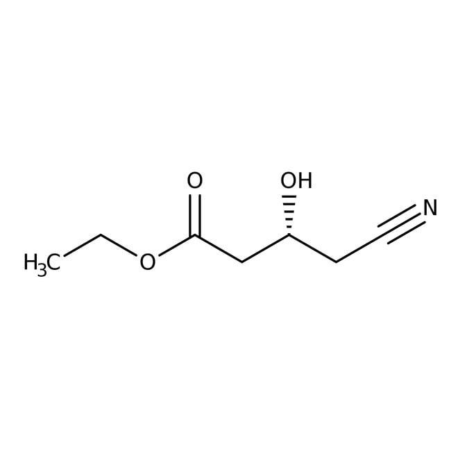 Ethyl (R)-4-cyano-3-hydroxybutanoate, 95%, ACROS Organics™ 1g; Glass bottle Ethyl (R)-4-cyano-3-hydroxybutanoate, 95%, ACROS Organics™