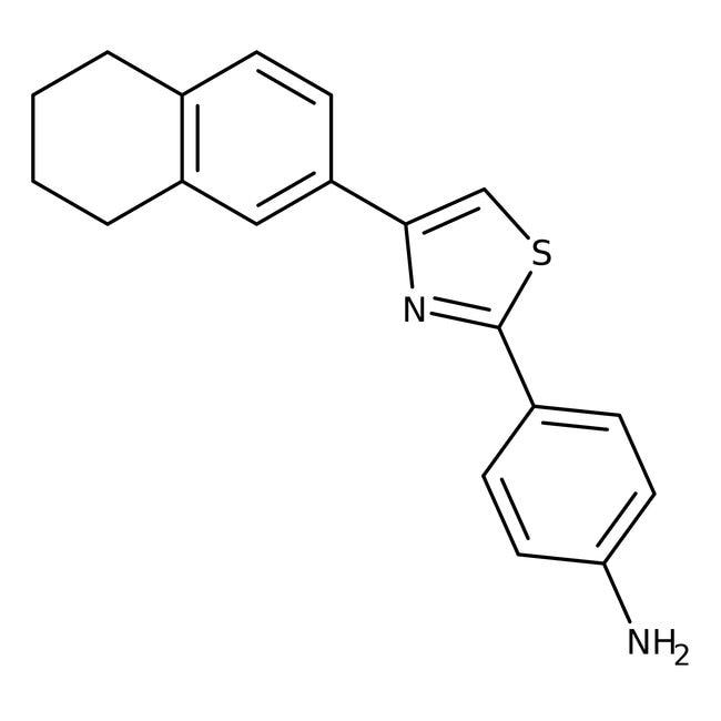 Alfa Aesar™2-(4-Aminophenyl)-4-(5,6,7,8-tetrahydro-2-naphthyl)thiazol, 97% 10g Alfa Aesar™2-(4-Aminophenyl)-4-(5,6,7,8-tetrahydro-2-naphthyl)thiazol, 97%