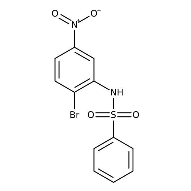 Alfa Aesar™N-(2-Bromo-5-nitrophenyl)benzenesulfonamide, 97% 250mg Alfa Aesar™N-(2-Bromo-5-nitrophenyl)benzenesulfonamide, 97%