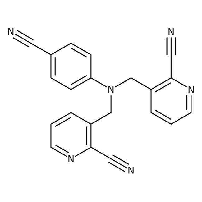 Alfa Aesar™4-Bis(2 -cyano-3-pyridyllmethyl)aminobenzonitril, 97% 1g Alfa Aesar™4-Bis(2 -cyano-3-pyridyllmethyl)aminobenzonitril, 97%