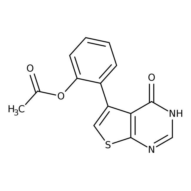 5-(2-Acétoxyphényl)thiéno[2,3-d]pyrimidine-4-one, 97%, Alfa Aesar™ 1g 5-(2-Acétoxyphényl)thiéno[2,3-d]pyrimidine-4-one, 97%, Alfa Aesar™