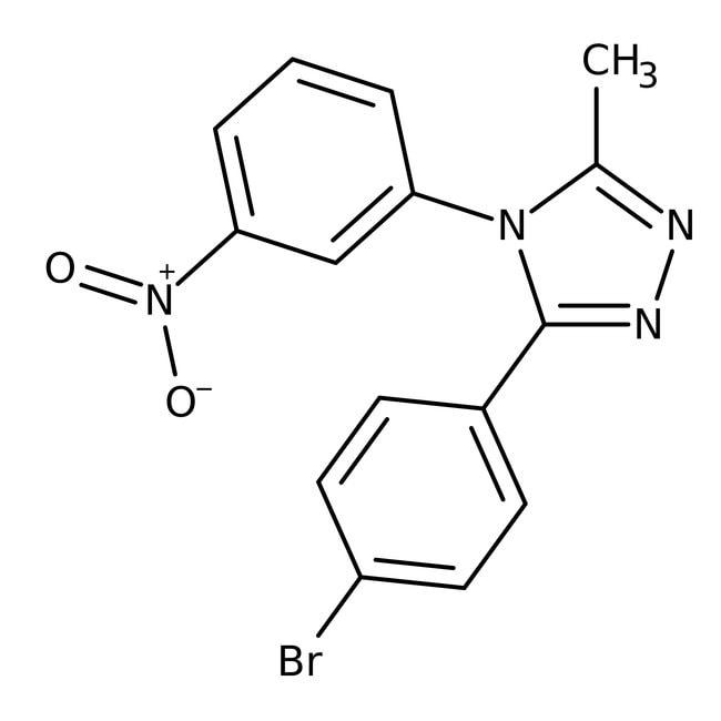 Alfa Aesar™3-(4-Bromophenyl)-5-Methyl-4-(3-Nitrophenyl)-4H-1,2,4-Triazol, 97 % 500mg Alfa Aesar™3-(4-Bromophenyl)-5-Methyl-4-(3-Nitrophenyl)-4H-1,2,4-Triazol, 97 %