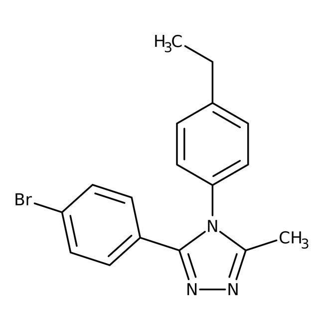 Alfa Aesar™3-(4-Bromophenyl)-4-(4-ethylphenyl)-5-methyl-4H-1,2,4-triazole, 97% 100mg Alfa Aesar™3-(4-Bromophenyl)-4-(4-ethylphenyl)-5-methyl-4H-1,2,4-triazole, 97%