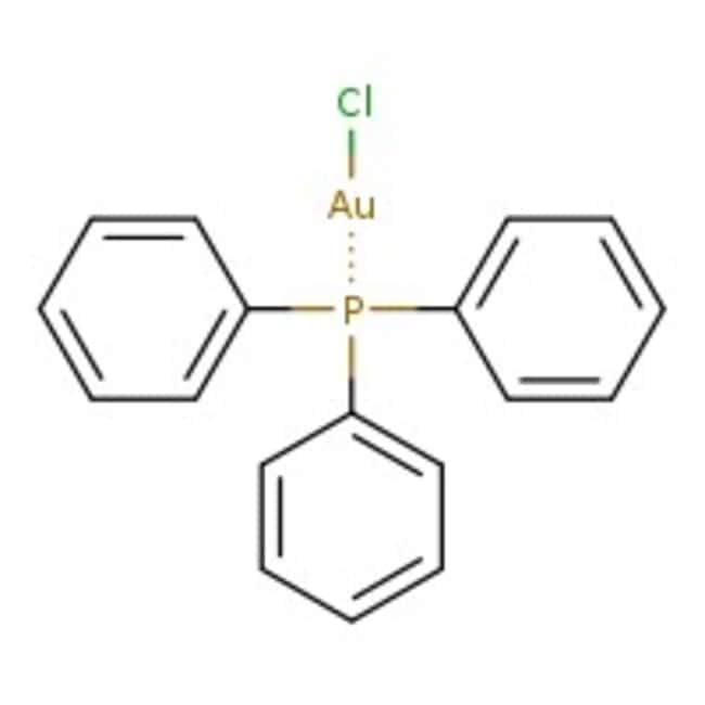 Chloro(triphenylphosphine)gold(I), 99%, ACROS Organics™ 5g; Glass bottle prodotti trovati