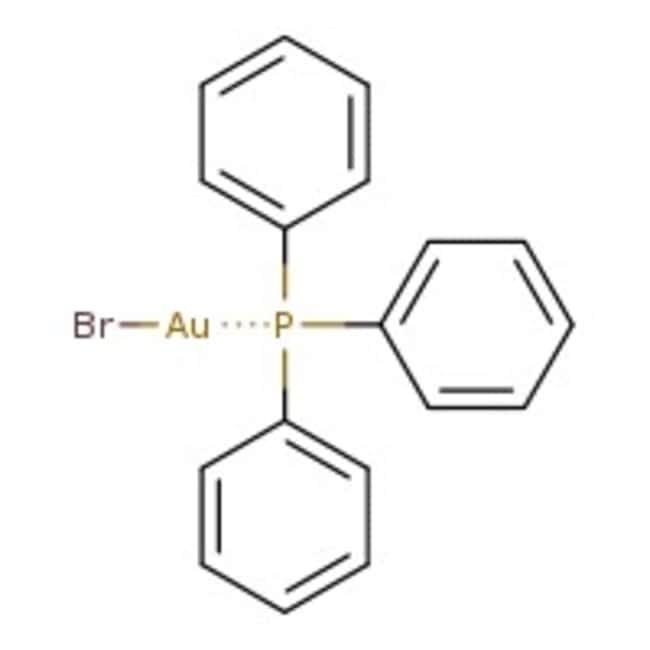 Alfa Aesar™Bromo(triphenylphosphin)gold(I), Premion™, 99.99% (Metallbasis) 5g Alfa Aesar™Bromo(triphenylphosphin)gold(I), Premion™, 99.99% (Metallbasis)