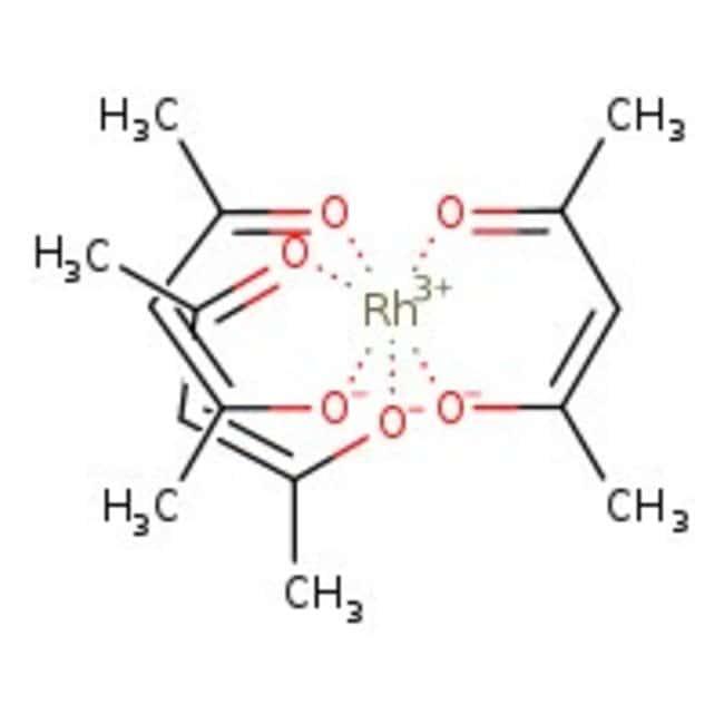 Alfa Aesar™Rhodium(III) 2,4-pentanedionate, Premion™, 99.99% (metals basis), Rh 25.2% min