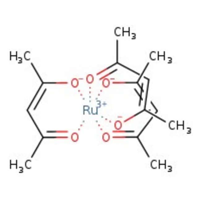 Ruthenium(III) 2,4-pentanedionate, Ru 24% min., Alfa Aesar™ 1g Ruthenium(III) 2,4-pentanedionate, Ru 24% min., Alfa Aesar™