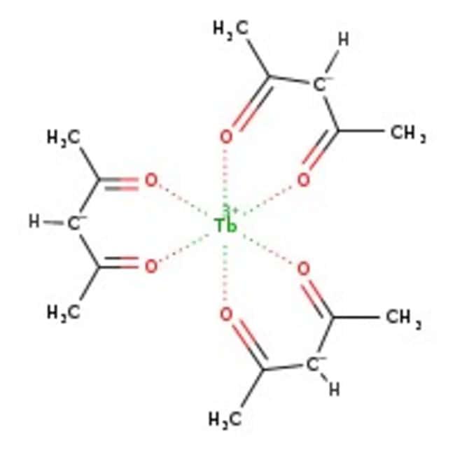 Alfa Aesar™Terbium(III) 2,4-pentanedionate, 99.9% (REO) 2g Alfa Aesar™Terbium(III) 2,4-pentanedionate, 99.9% (REO)