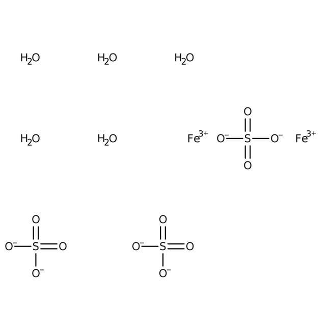 Iron(III) sulfate pentahydrate, 97%, ACROS Organics™ 500g; Plastic bottle Iron(III) sulfate pentahydrate, 97%, ACROS Organics™