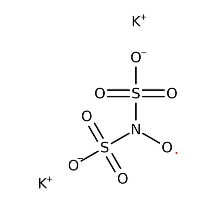 Potassium nitrosodisulfonate, 50-75%, remainder water and methanol, ACROS Organics