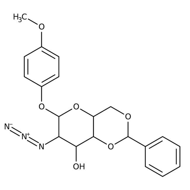 4-Methoxyphenyl 2-Azido-4,6-O-benzylidene-2-deoxy-beta-D-glucopyranoside 98.0+%, TCI America™