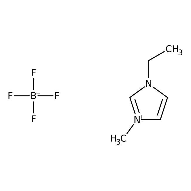Alfa Aesar™Le tétrafluoroborate d'-1éthyle-3-méthylimidazolium, 98+% (poids sec), peut donner jusqu'à 3% d'eau 10g Alfa Aesar™Le tétrafluoroborate d'-1éthyle-3-méthylimidazolium, 98+% (poids sec), peut donner jusqu'à 3% d'eau