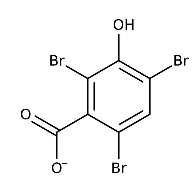 3-Hydroxy-2,4,6-tribromobenzoic acid, 97%, ACROS Organics