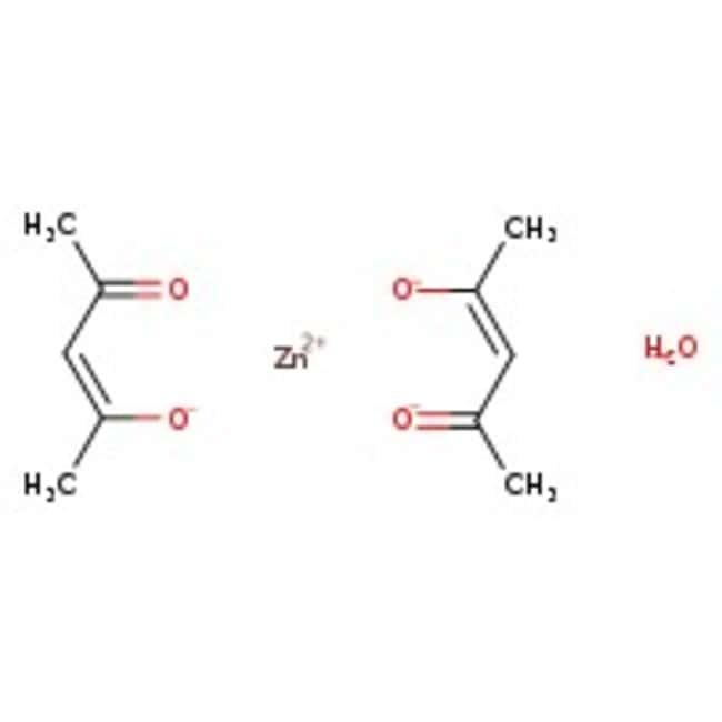 Alfa Aesar™Zinc 2,4-pentanedionate monohydrate 250g Alfa Aesar™Zinc 2,4-pentanedionate monohydrate