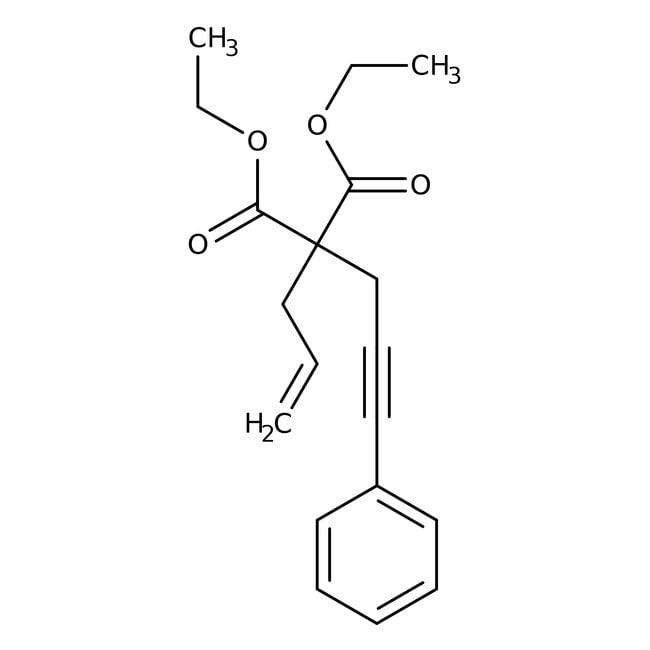 Alfa Aesar™Diethyl allyl(3-phenyl-2-propynyl)malonate, 96% 5g Alfa Aesar™Diethyl allyl(3-phenyl-2-propynyl)malonate, 96%