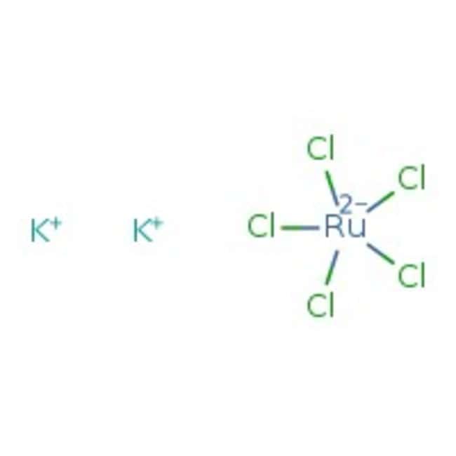 Alfa Aesar™Potassium aquapentachlororuthenate(III), Premion™, 99.99% (metals basis), Ru 26.4% min 1g Alfa Aesar™Potassium aquapentachlororuthenate(III), Premion™, 99.99% (metals basis), Ru 26.4% min
