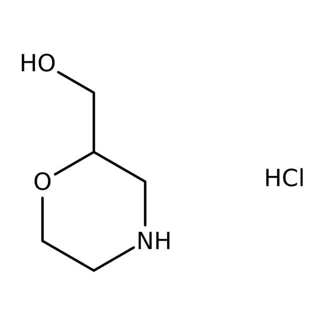 Alfa Aesar™2-Hydroxymethylmorpholine hydrochloride, 95% 1g Alfa Aesar™2-Hydroxymethylmorpholine hydrochloride, 95%