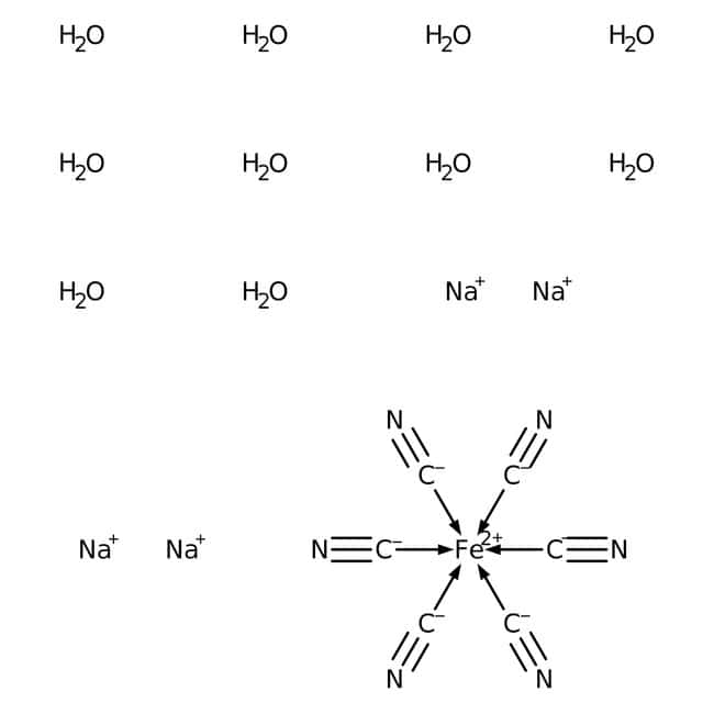 Sodium ferrocyanide decahydrate, ACROS Organics™ 5kg Sodium ferrocyanide decahydrate, ACROS Organics™