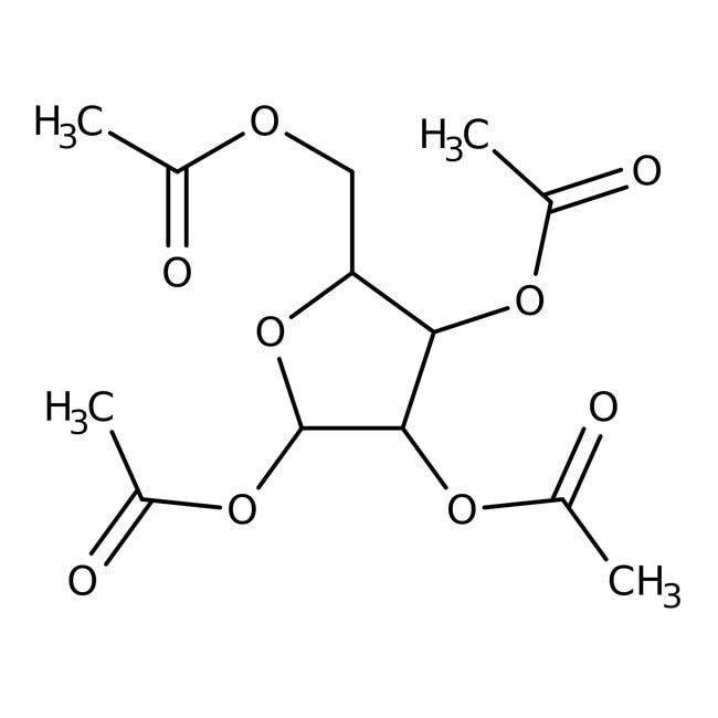 Alfa Aesar™1,2,3,5-Tetra-O-acetyl-beta-L-ribofuranose, 98% 1g Alfa Aesar™1,2,3,5-Tetra-O-acetyl-beta-L-ribofuranose, 98%
