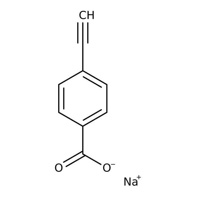 Alfa Aesar™4-éthynylbenzoate de sodium, 97% 5g Alfa Aesar™4-éthynylbenzoate de sodium, 97%
