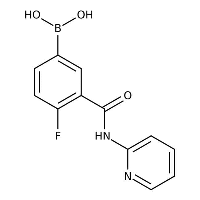 Alfa Aesar™4-Fluoro-3-(2-pyridylcarbamoyl)benzeneboronic acid, 97%