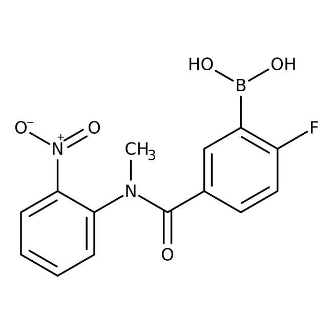 2-Fluoro-5-[N-methyl-N-(2-nitrophenyl)carbamoyl]benzeneboronic acid, 97%, Alfa Aesar™