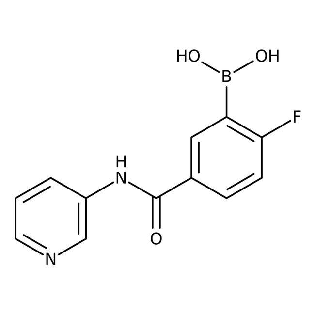 Alfa Aesar™2-Fluoro-5-(3-pyridylcarbamoyl)benzeneboronic acid, 97%