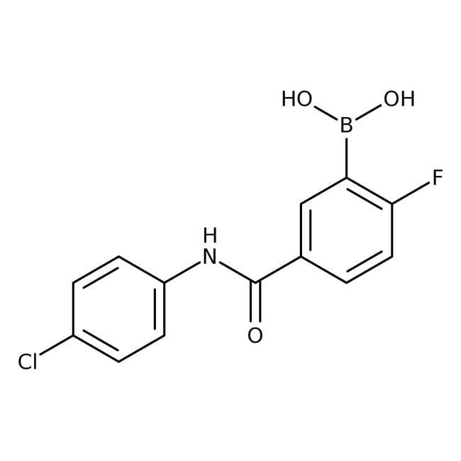 Alfa Aesar™5-(4-Chlorophenylcarbamoyl)-2-fluorobenzeneboronic acid, 97%